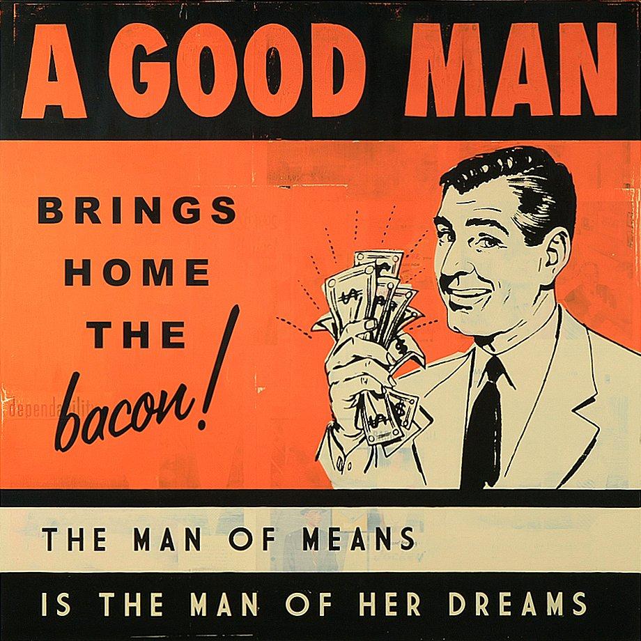 A Good Man 36x36 - SOLD